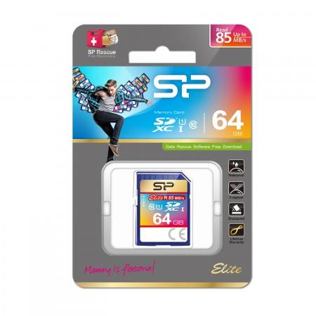 Silicon Power SDXC Card Elite class 10 UHS-1 64GB