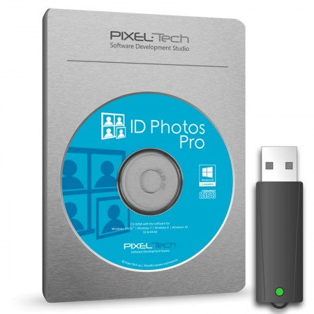 Pixel-Tech ID Photos Pro 8 Pasfoto Software Box incl. Dongle Key
