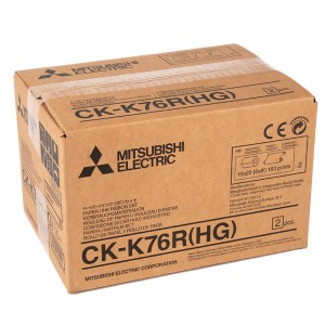 MITSUBISHI CK-K76R(HG) 102X152MM / 2X320 PRINTS - 152X203MM / 2X160 PRINTS