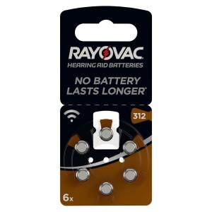 VARTA Rayovac Hearing Aid V312 Blister 6