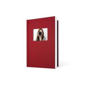 UNIBIND MyBook 30x20cm/7mm Portrait + Venster Red Linen (5st)