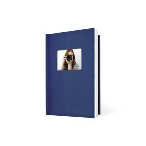UNIBIND MyBook 30x20cm/7mm Portrait + Venster Dark Blue Linen (5st)