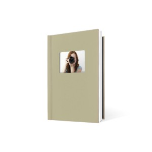 UNIBIND MyBook 30x20cm/7mm Portrait + Venster Champagne Linen (5st)