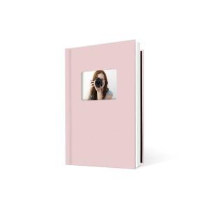 UNIBIND MyBook 30x20cm/7mm Portrait + Venster Baby Pink Linen (5st)