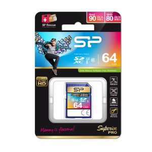 Silicon Power SDXC Card Superior Pro class 10 UHS-1 U3 64GB