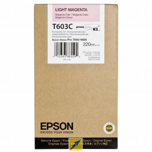 EPSON T603C Light Magenta 220ml