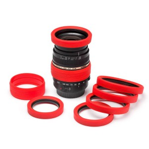 easyCover Lens Rim for 62 mm Red