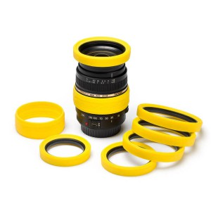 easyCover Lens Rim for 58 mm Yellow
