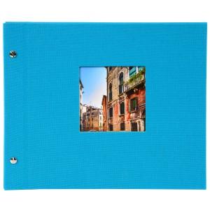 Goldbuch Bella Vista losbladig album 30x25 turquois