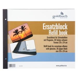 Goldbuch navulling 29x24 (zwarte bladen)