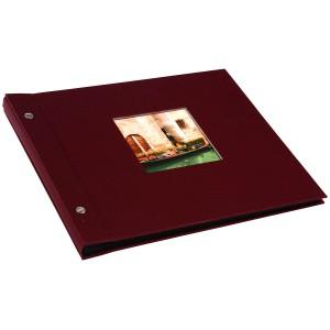 Goldbuch Bella Vista losbladig album 30x25 bordeaux (zwarte bladen)