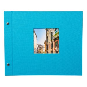 Goldbuch Bella Vista losbladig album 30x25 turquois (zwarte bladen)