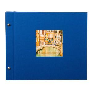 Goldbuch Bella Vista losbladig album 30x25 blue (zwarte bladen)