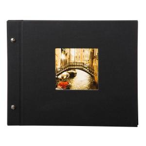 Goldbuch Bella Vista losbladig album 30x25 black (zwarte bladen)