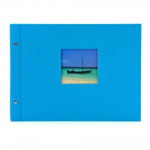Goldbuch Bella Vista losbladig album 39x31 turquois (zwarte bladen)