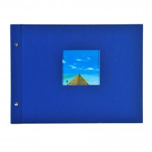 Goldbuch Bella Vista losbladig album 39x31 blue (zwarte bladen)