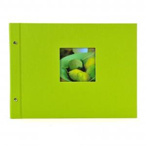 Goldbuch Bella Vista losbladig album 39x31 green (zwarte bladen)