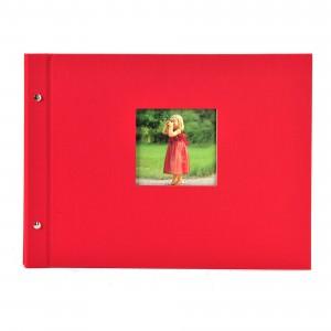 Goldbuch Bella Vista losbladig album 39x31 red (zwarte bladen)