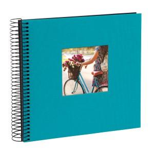 Goldbuch Bella Vista spiraal album 21x20 turquoise (zwarte bladen)