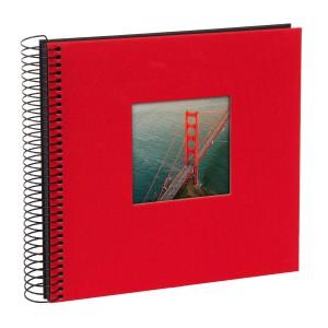 Goldbuch Bella Vista spiraal album 21x20 red (zwarte bladen)