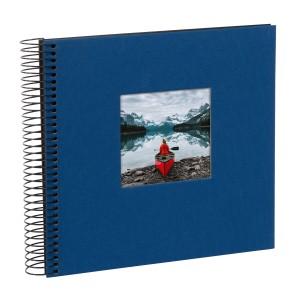 Goldbuch Bella Vista spiraal album 21x20 blue (zwarte bladen)