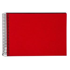 Goldbuch Bella Vista spiraal album 24x17 red (zwarte bladen)