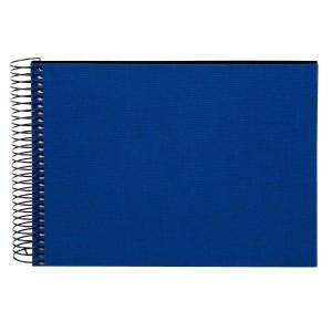 Goldbuch Bella Vista spiraal album 24x17 blue (zwarte bladen)