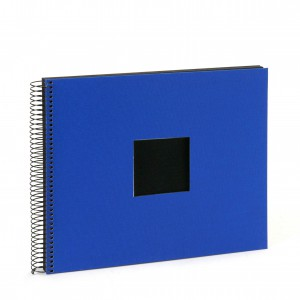 Goldbuch Bella Vista spiraal album 35x30 blue (zwarte bladen)