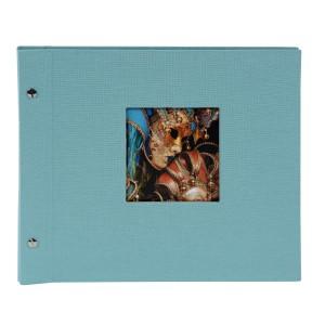 Goldbuch Bella Vista Trend losbladig album 30x25 auqa (zwarte bladen)