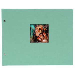 Goldbuch Bella Vista Trend losbladig album 39x31 auqa (zwarte bladen)