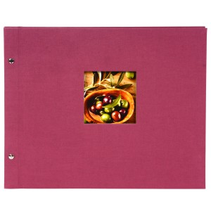 Goldbuch Bella Vista Trend losbladig album 39x31 fuchsia (zwarte bladen)