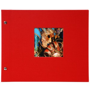 Goldbuch Bella Vista losbladig album 30x25 red