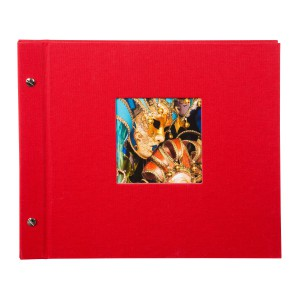 Goldbuch Bella Vista losbladig album 30x31 red