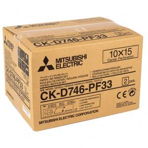 MITSUBISHI CK-746-PF33 102X152MM / 2X400 PRINTS PERFORATED