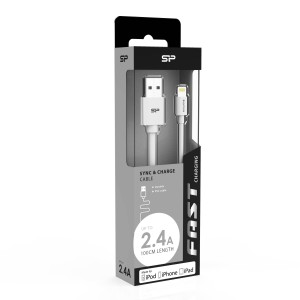 Silicon Power Boost Link Lightning kabel 1M (PVC/White)