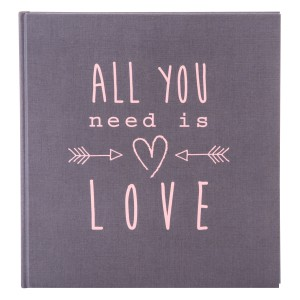 Goldbuch All You Need Is Love fotoalbum 30x31 grey