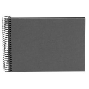 Goldbuch Bella Vista spiraal album 24x17 grey (zwarte bladen)