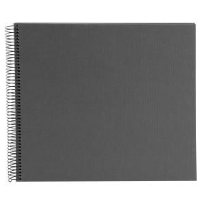 Goldbuch Bella Vista spiraal album 35x30 grey (zwarte bladen)