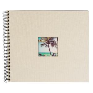 Goldbuch Bella Vista spiraal album 35x30 sandgrey (zwarte bladen)
