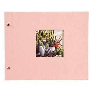 Goldbuch Bella Vista losbladig album 30x25 rosé (zwarte bladen)