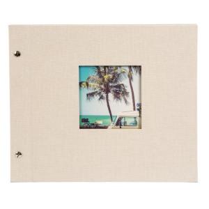 Goldbuch Bella Vista losbladig album 30x25 sandgrey (zwarte bladen)