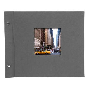Goldbuch Bella Vista losbladig album 30x25 grey (zwarte bladen)