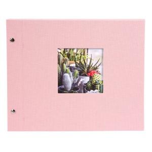 Goldbuch Bella Vista losbladig album 30x25 rosé