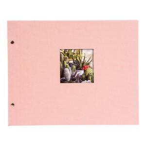 Goldbuch Bella Vista losbladig album 39x31 rosé (zwarte bladen)