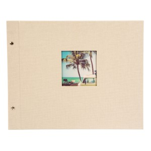 Goldbuch Bella Vista losbladig album 39x31 sandgrey (zwarte bladen)