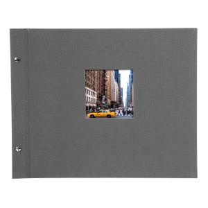 Goldbuch Bella Vista losbladig album 39x31 grey (zwarte bladen)
