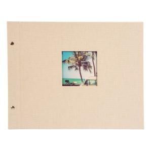 Goldbuch Bella Vista losbladig album 39x31 sandgrey