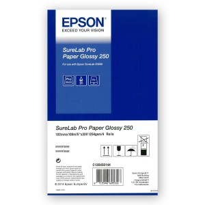 EPSON Pro Paper Glossy 250g/m² 127mm 4x 100m for SureLab