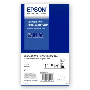 EPSON Pro Paper Glossy 250g/m² 254mm 2x 100m for SureLab