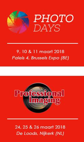 Beurzen 2018: Foto Days Belgium & Professional Imaging Nederland